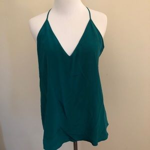 Rory Beca Teal Silk Camisole Top